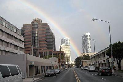 Pot of gold under the Moana Pacific condominium.