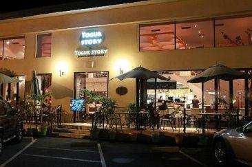Yogur Story at night.
