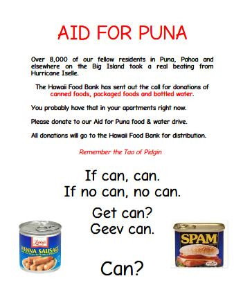 Aid for Puna