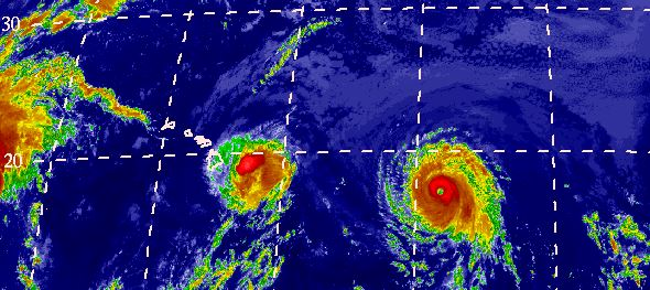 Iselle is almost tpo Hawaii; Julio is still on track to visit, too.