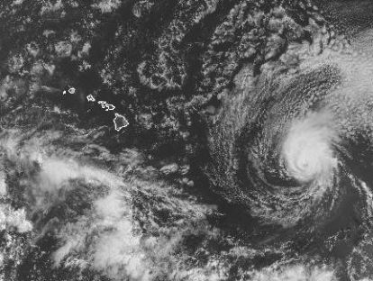 This is Hurricane Iselle, currently about 1,000 miles east of Hawaii, on track to land on Thursday on the Big Island.