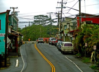 Pahoa town in the Puna District. A strange mix of old west and old Hawaii with a touch of Forever 1960 thrown in.
