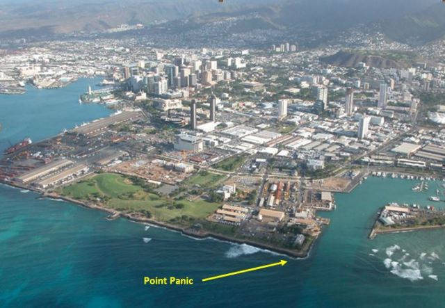 Kaka'ako Waterfront Park is rare open ocean front land in urban Honolulu. (Photo: SOEST, UH)