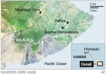 The same area hit hard last month by Hurricane Iselle!