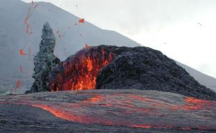 Pu'u O'o getting its freak on during a previous eruption.