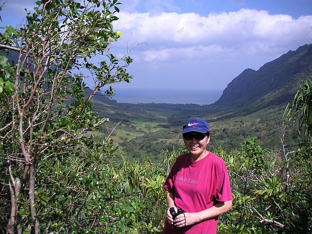 The AJF hiking KUaloa Ranch in the pre-Malt days.