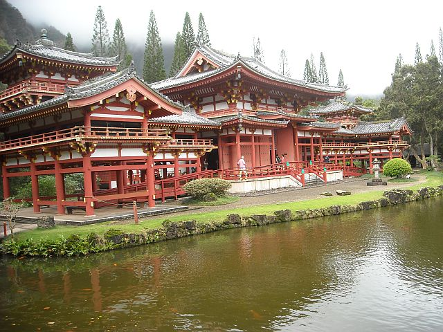 Surrounded by verdant forest and koi ponds, the Byodo-In Temple is easy on the eyes and easy on the mind.