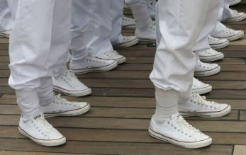 Snazzy kicks on these cadets. Photo credit: Seattle Times