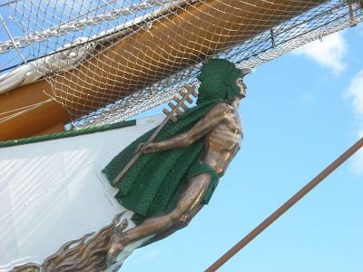 The figurehead from the tall ship.