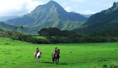 Our destination: Kualoa Ranch.