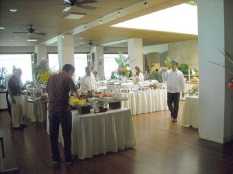The buffet area at Orchids.