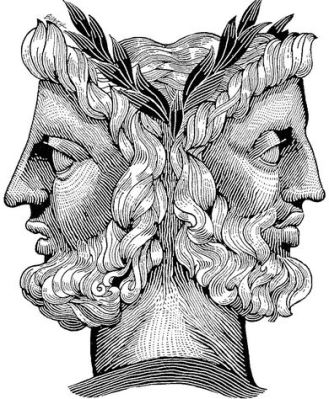 I one of Janus' faces smoked a cigar, could the other one blow smoke circles? Curious minds want to know.