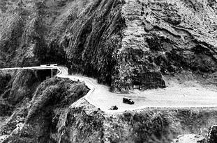 Building the Pali Road, mid 1950s. This is where the lookout is located today.