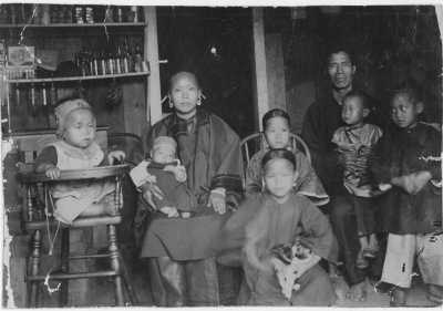 Chinese immigrants in Hawaii circa 1893.