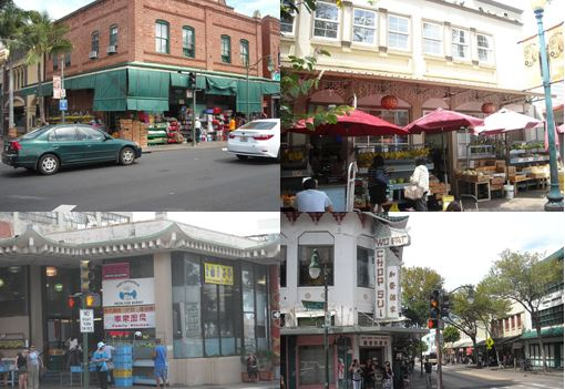 Street scenes along the heart of Chinatown.