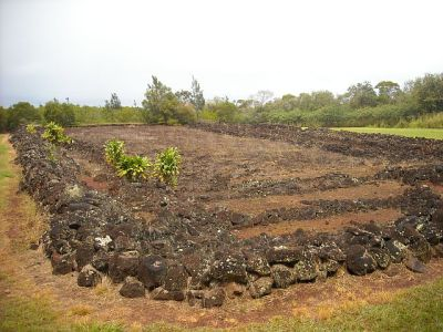 Remains of the largest heiau on Oahu, Pu'u o Mahuka. It covrs two acres.