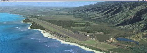 Aerial of Dillingham Airfield.