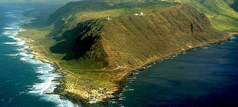 Aerial of Ka'ena Point. Photo by go-hawaii.com