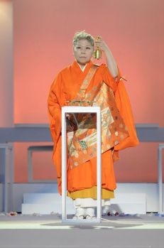 Her Holiness Shinso Ito, leader of Shinnyo-en in Hawaii.