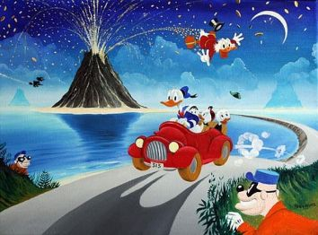 Donald Duck and the Money Volcano. Cultural appropriation at its nadir.