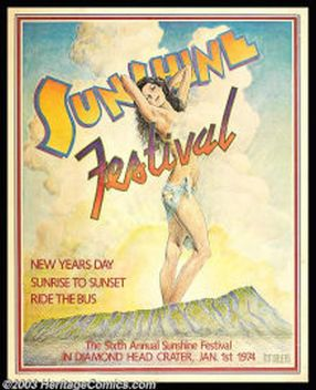 Poster art from the Sunshine Festival.