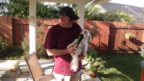 Max with Zucchini