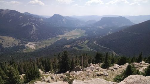 View down valley