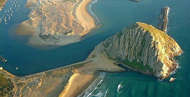 Morro Rock from sky